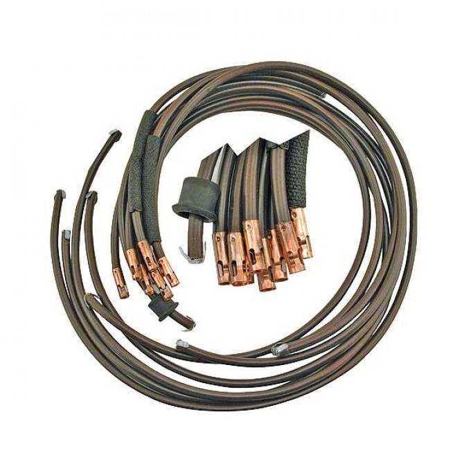 Spark Plug Wire Set - Brown - Like Original - V8 - Ford Passenger