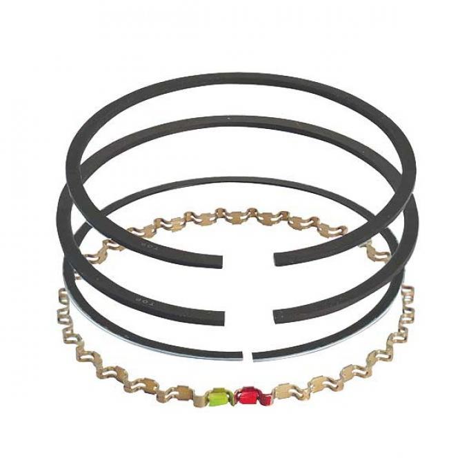 Piston Ring Set - Cast Iron - Comp Size .078, Oil Size .187- 351 Windsor V8 - Choose Your Size