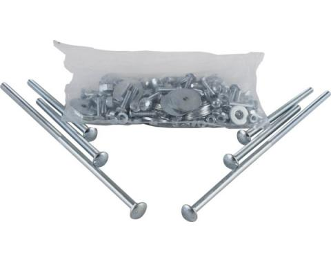 Chevy Truck Bed Bolt Kit, Zinc Plated, Short Bed, Step Side, 1951-1953