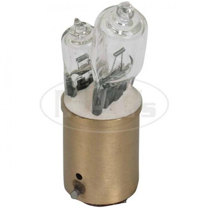 Halogen Light Bulb - Inline - Double Contact - 50-20 Watt -6 Volt - Ford
