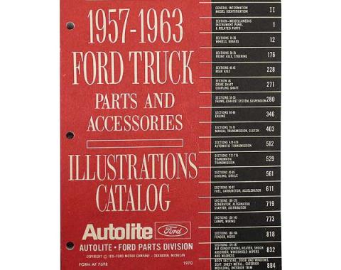 1957-1963 Ford Truck Parts and Accessories Illustrations Catalog - Bound Catalog - 944 Pages