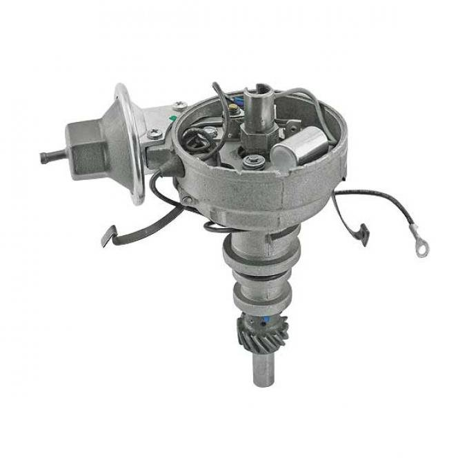 Distributor - Remanufactured - Single Vacuum - 170 6 Cylinder With Smog Equipment