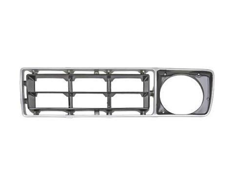 Ford Pickup Truck Grille Shell Insert - Left Side - Argent & Black - F100 Thru F350