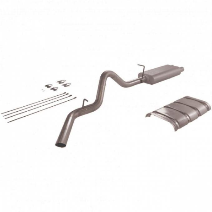 Chevy Or GMC Truck Flowmaster American Thunder Dual Exhaust, 3/4 Or 1 Ton, Header Back System, Aluminized Steel 1996-1999