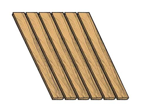 Ford Pickup Truck Bed Wood Floor Kit - Oak - 8 Pieces - 6-1/2' Beds Only