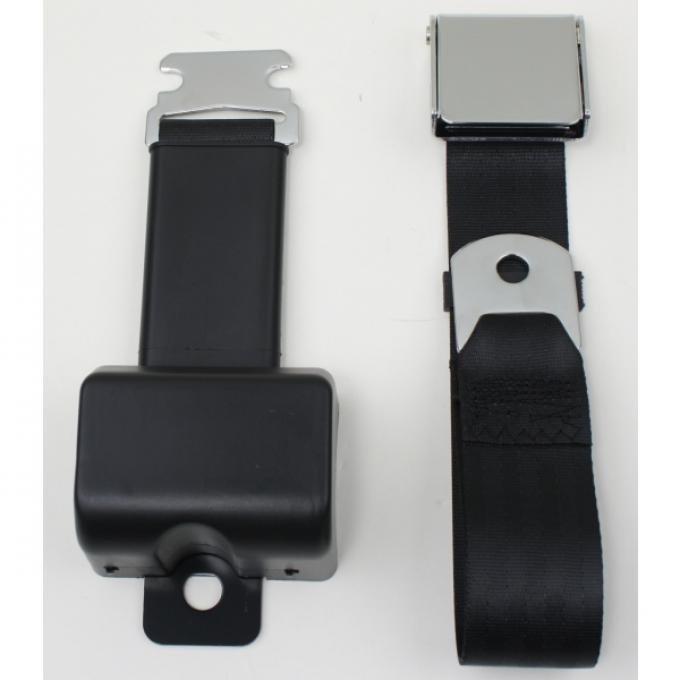 Chevy Truck Lap Seat Belt, Retractable, Chrome Lift Latch 1947-1987