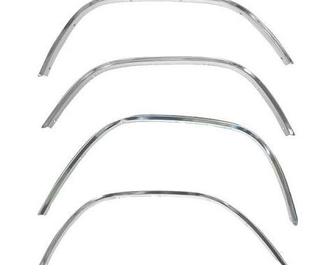 Ford Pickup Truck Wheel Opening Moulding Set - 4 Pieces - F100 Thru F250