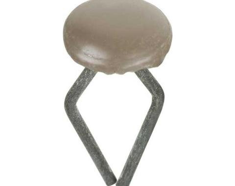 Ford Interior Upholstery Clip - Brown - Pickups - For Door & Cowl Kick Panel Retainers - Button-Head