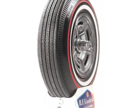 Tire, 815 X 15, 3/8 Red Line With 1 Whitewall, BF Goodrich, 1965-66