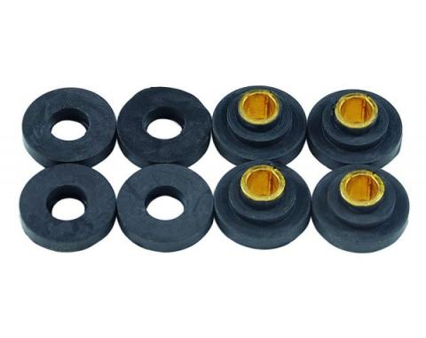 Muffler Clamp Bushing Kit - Rubber - 8 Pieces - Ford