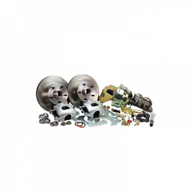 Classic Chevy -  Front Disc Brake Conversion Kit For Stock Spindles, Power, 1955-1957