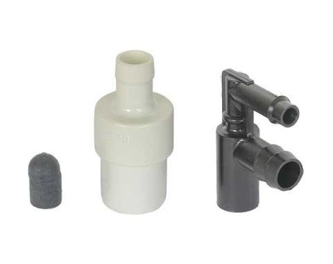 Ford Pickup Truck PCV Valve - Low-Flow Type - Motorcraft - 300 6 Cylinder - Except 78 F100 Canada & 78 F100 Thru F350 Over 8500 GVW