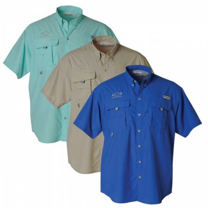 Men's Columbia Bowtie Bahama Shirt - Royal Blue