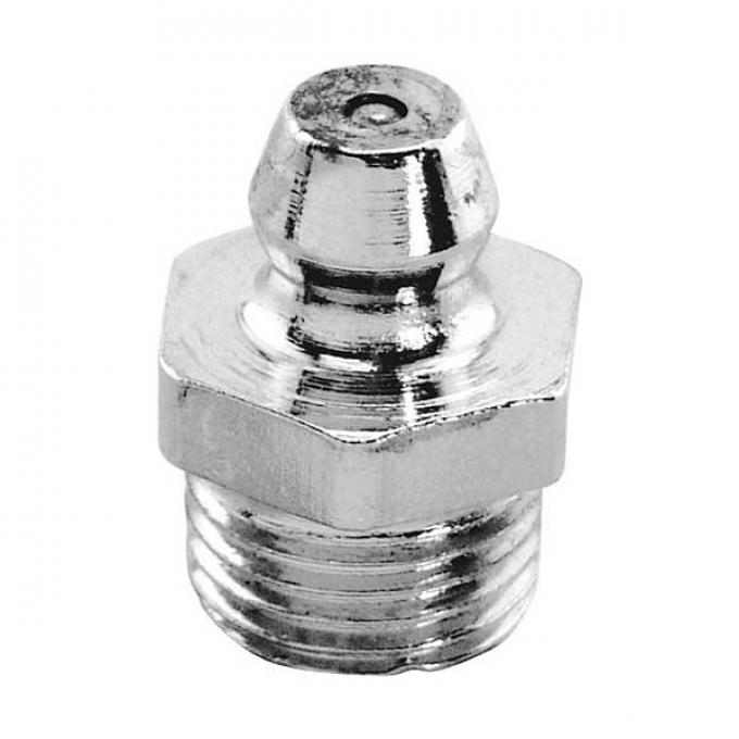 Grease Fitting - Chrome Plated - 1/8 Pipe - Straight - Modern