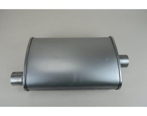"""1955-1957 Chevy Aluminum Turbo Muffler 2"""" Diameter"""