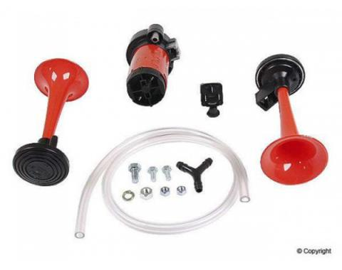 Chevy Truck Hella Air Horn, 2-Trumpet, Dual Tone Kit, Aftermarket, 1947-2014