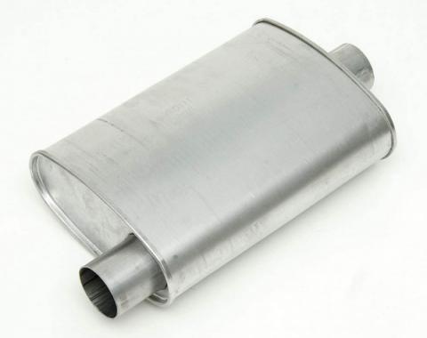 """1955-1957 Chevy Turbo Muffler, Aluminized 2 1/2"""" Diameter"""