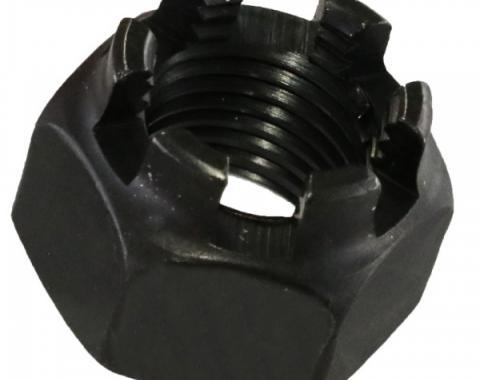 Main Bearing Cap Bolt Nut - Castle Nut - Black Oxide - 1/2-20 - 4 Cylinder Ford Model B & Ford Flathead V8 Except 60 HP