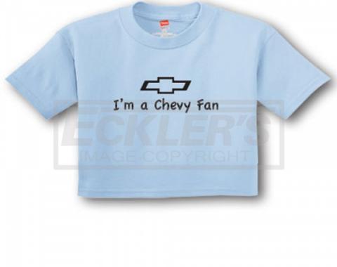 "Light Blue ""I'm A Chevy Fan"" Infant Tee"