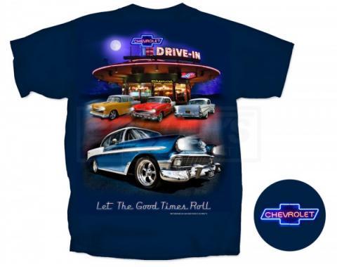 Chevy, T-Shirt, Nighttime Drive-In