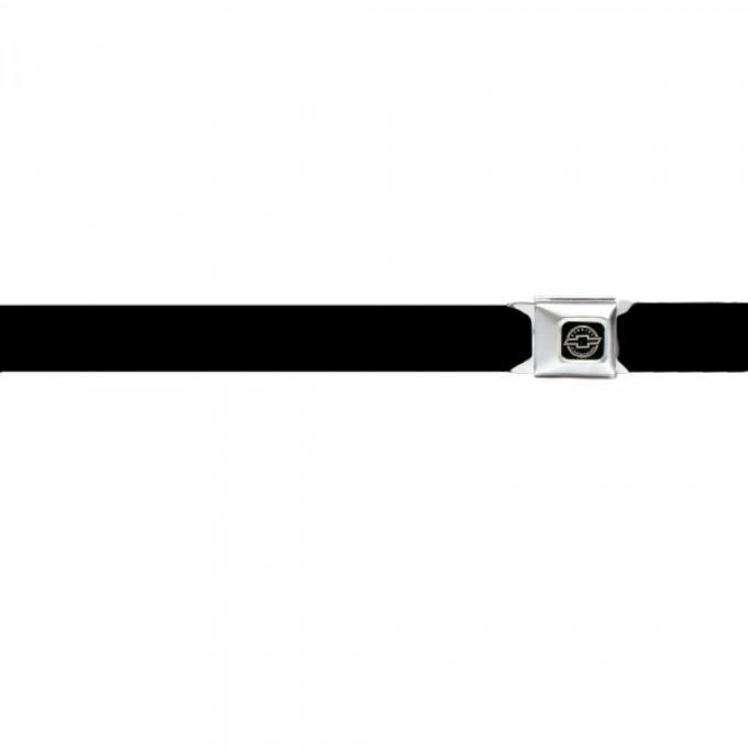 Seat Belt Belts, Chevy Bowtie Silver Logo