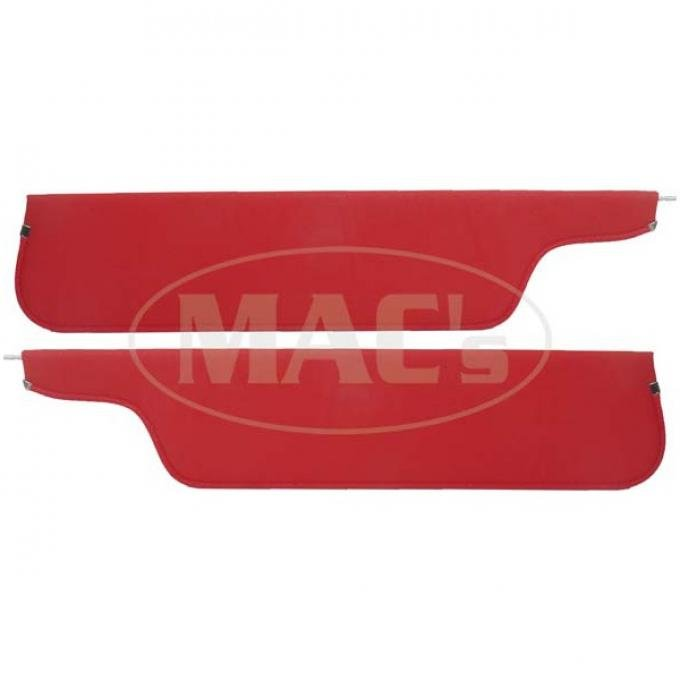 Ford Pickup Truck Sun Visors - New Style - Red Crater GrainVinyl - Ford F100 To Ford F750