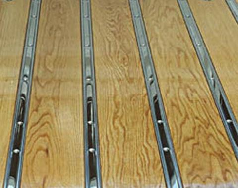 Ford Pickup Truck Bed Strip Set - Polished Stainless Steel - 7 Pieces - For Short, 6 1/2' Bed With No Holes