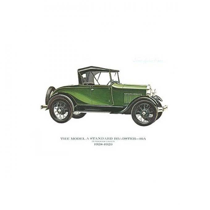 Model A Print - 1928-29 Ford Standard Roadster (40A) - 11 X14 - Unframed