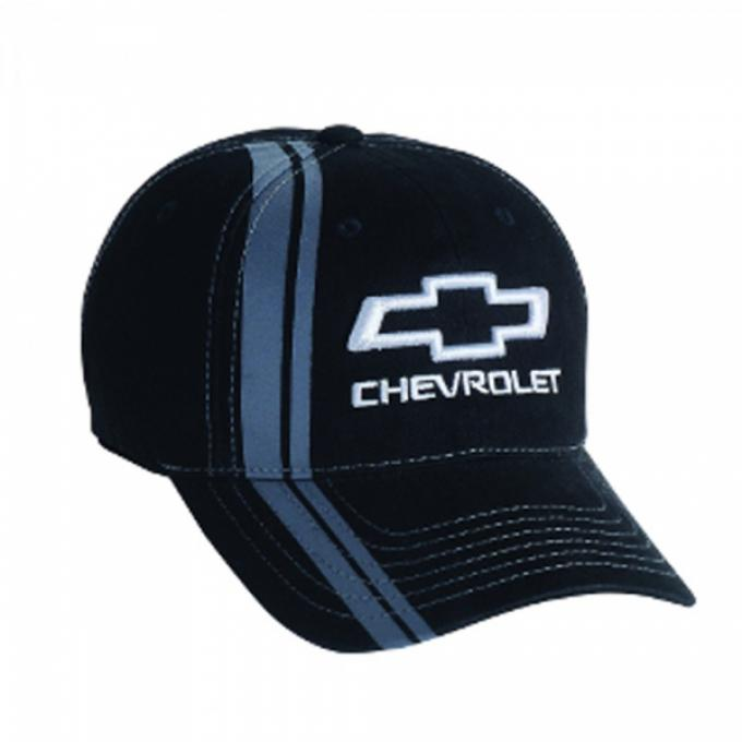 Chevy Bowtie Stripe Cap - Black