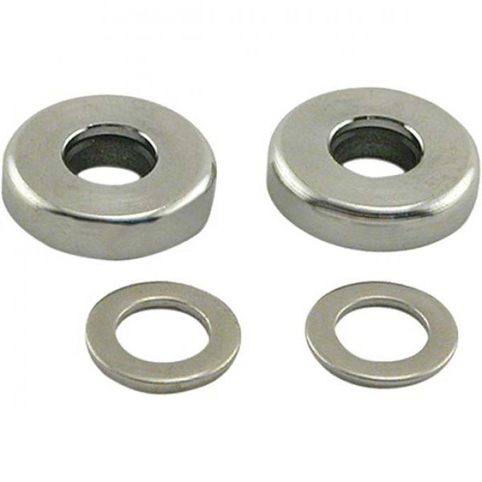 Liftgate Swing Arm Washers - Chrome with Hard Rubber Inserts - Ford Station Wagon