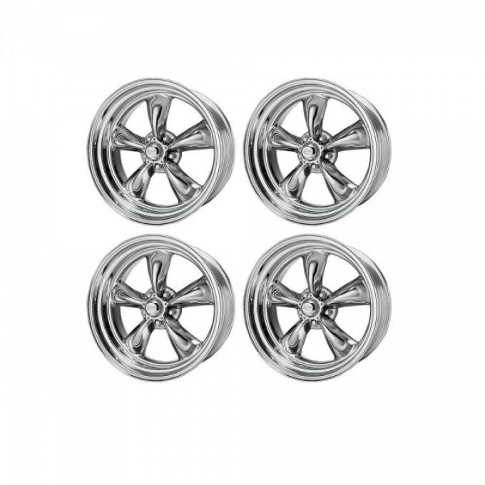 Chevy American Racing Torq Thrust II Wheel Set, Polished Aluminum, 17X7 & 17X8
