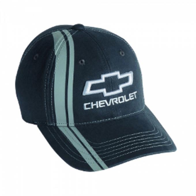 Chevy Bowtie Stripe Cap - Charcoal