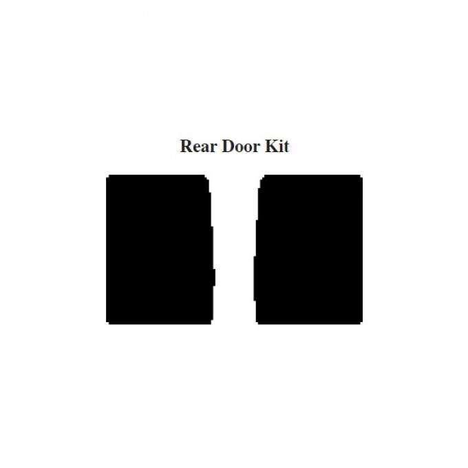 Chevy Insulation, QuietRide, AcoustiShield, Rear Door Kit, Suburban, 1954-1955