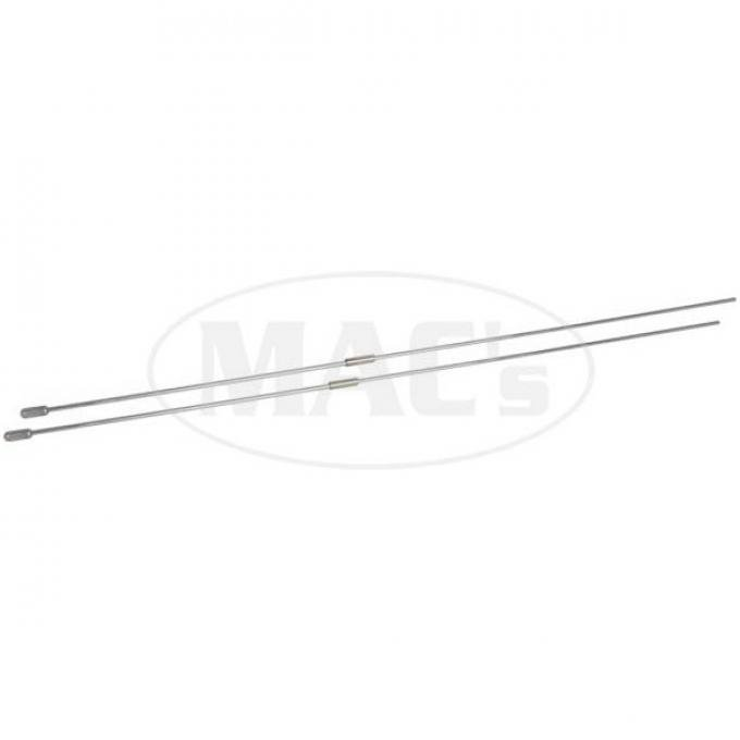 Choke & Throttle Rod Set - From Under-Dash To Carb - Cadmium Plated - 30 Long - Ford V8 Passenger