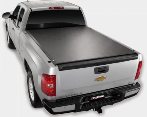 Truxedo Lo-Pro QT Tonneau Bed Cover, Chevy Or GMC Truck, 6.5' Bed, With Factory Installed Track System, Black, 2007-2013