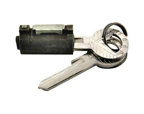 Trunk Lock Cylinder - Includes 2 Reproduction Ford Script Keys