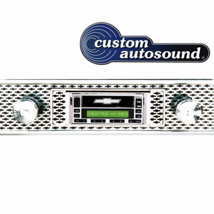 Custom Autosound® AM-FM Stereo Radios | Chevy Concours USA-230 Stereo, 200 Watt, With Auxiliary Inputs, Custom Autosound, 1955