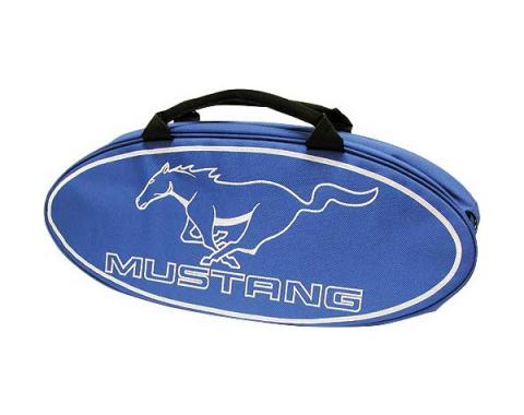 GoBox - Canvas - Blue Nylon/Polyester With A White Mustang Running Horse Logo