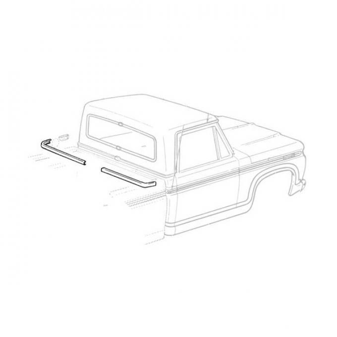 Ford Pickup Truck Rear Belt Mouldings - F250 Thru F350 Super Cab