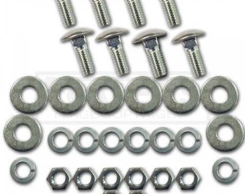 Chevy Or GMC Bumper Mounting Bolt Kit, Stainless Cap, Front Or Rear, 1967-1991