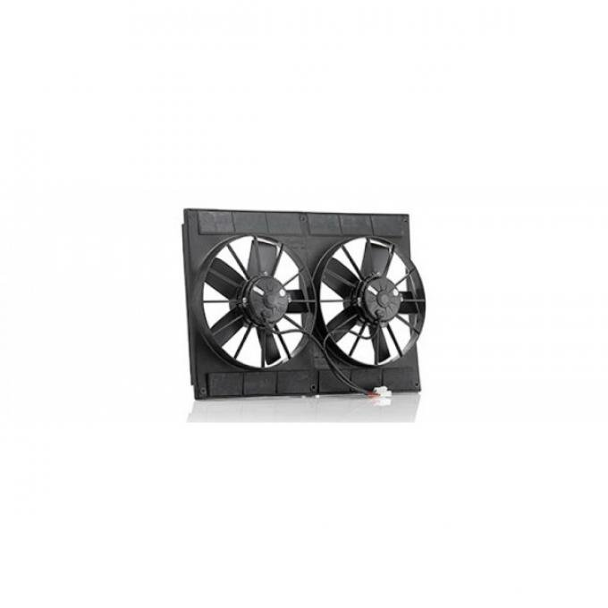 Classic Chevy V8 Conversion Dual Electric Fans, Universal, Be Cool, 1962-1979