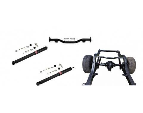 Chevy Rear Shock Bar Re-Location Kit W/ KYB GR-2 Shocks For Standard Or Lowered Cars, 2-Piece Frame, 1955-1957