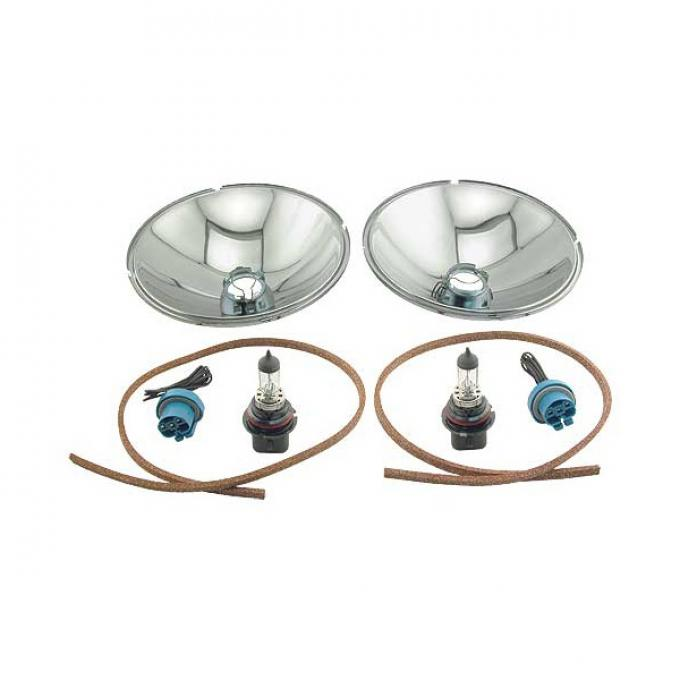 Headlight Conversion Kit - Quartz Halogen - 12 Volt - With Bulb & Socket - Ford Pickup Truck