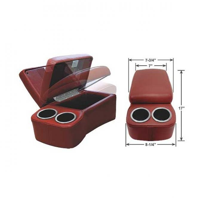 """BD Drinkster Seat Console - 17"""" x 8-1/4"""" - Maroon"""