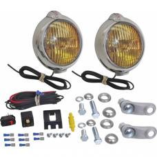 Fog Lamp - 12 Volt - Chrome - Amber Lens - Ford Script