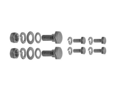 Trunk Arm & Spring Support Hardware - Black Oxide - 18 Pcs.- Ford Passenger