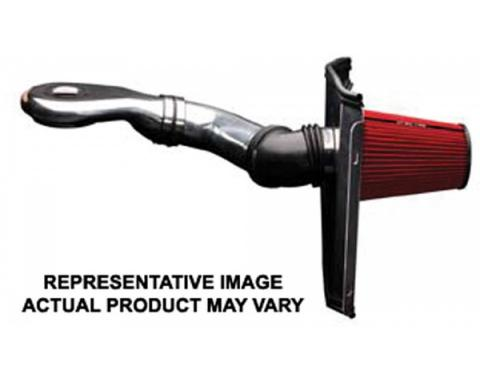Full Size Chevy Air Intake Kit, 4 inch, Single Inlet, Low Profile, 1965-1966