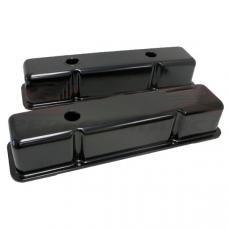 Chevy Small Block Valve Covers, Tall Style, Black, 1958-1986