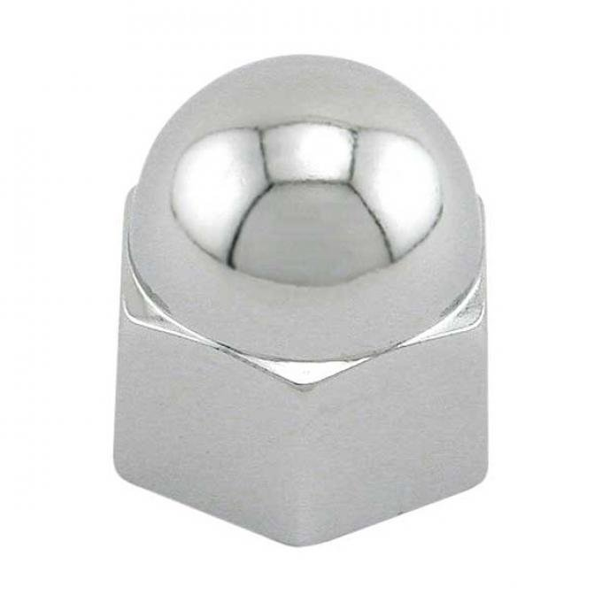 Acorn Push-on Cover - Chrome - 7/16