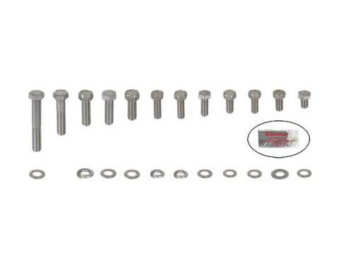 Ford Pickup Truck Engine Hardware Kit - Original Style - Stainless Steel - 352 Or 390 V8 With Cast Valve Covers
